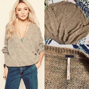 Free People Karina Wrap Mohair & Wool Sweater
